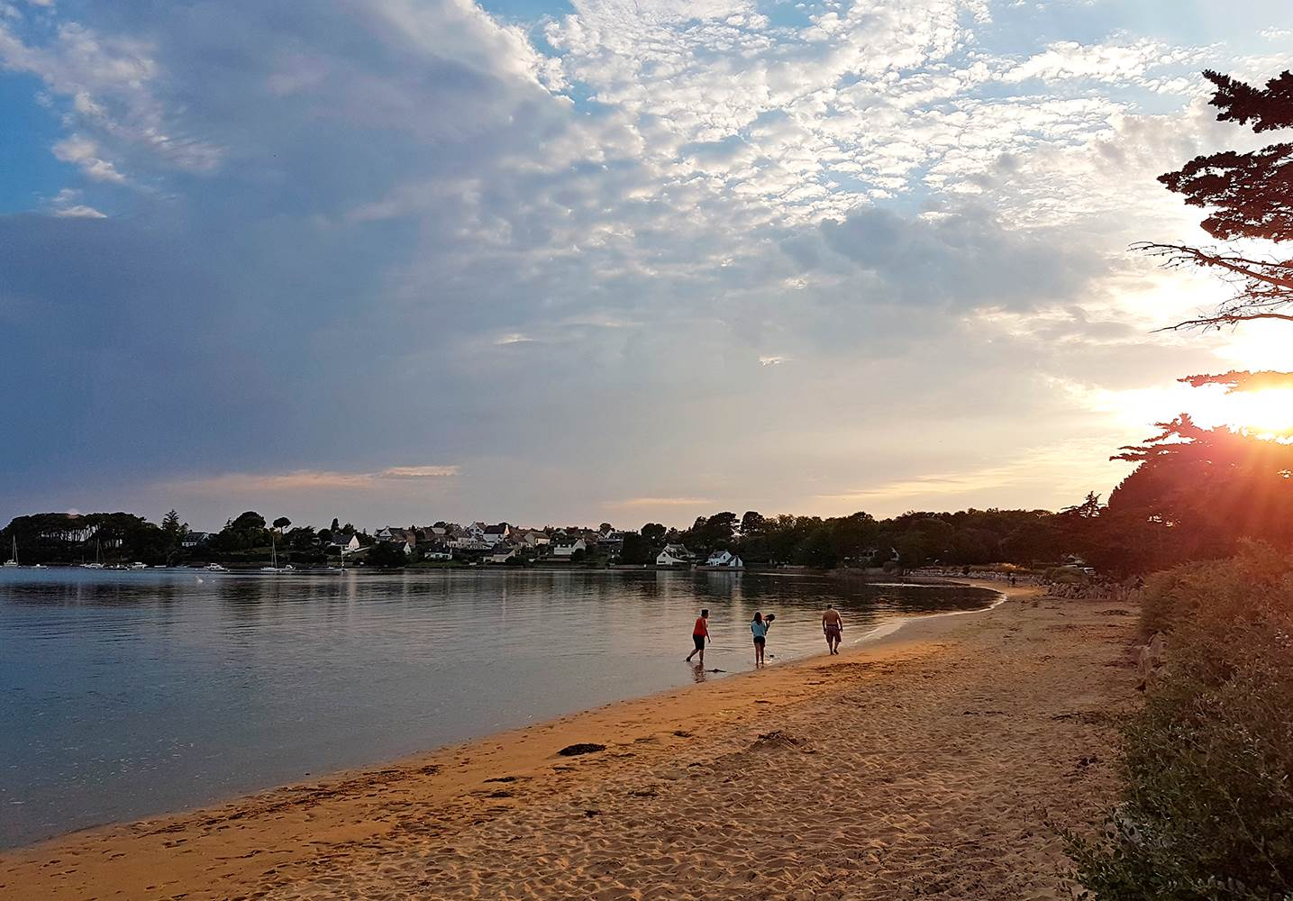 Une belle soirée à la plage ©