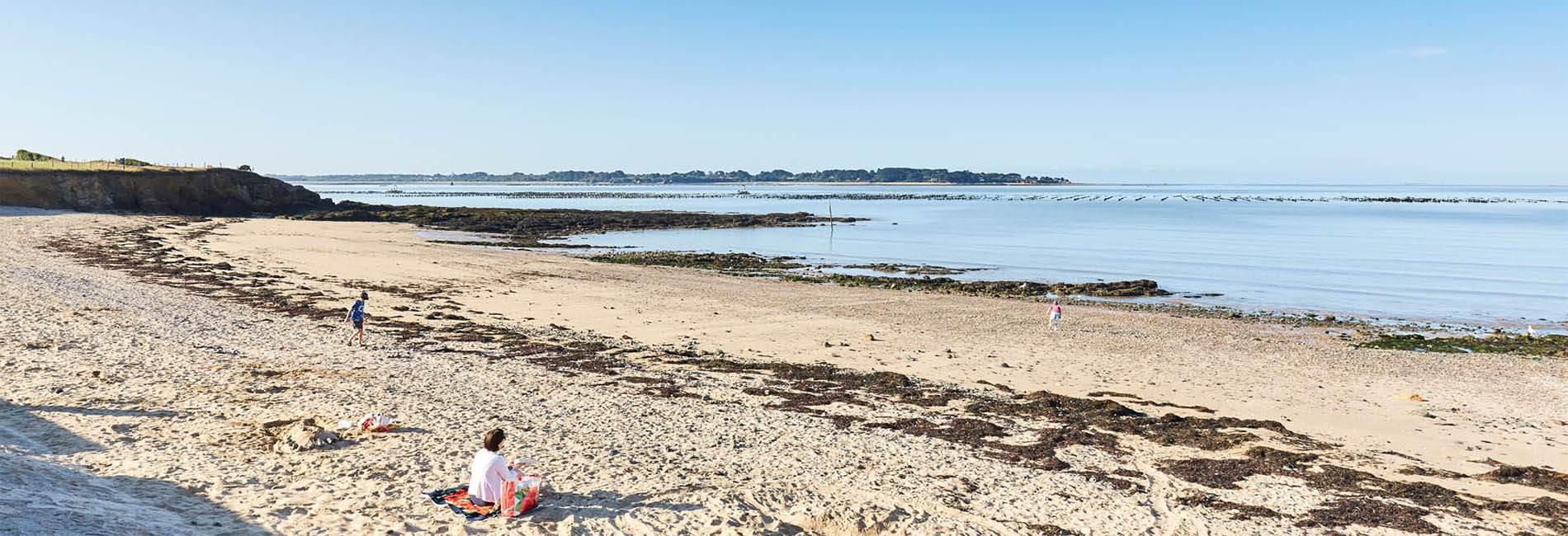 Plage des Granges Billiers Morbihan © A. Lamoureux