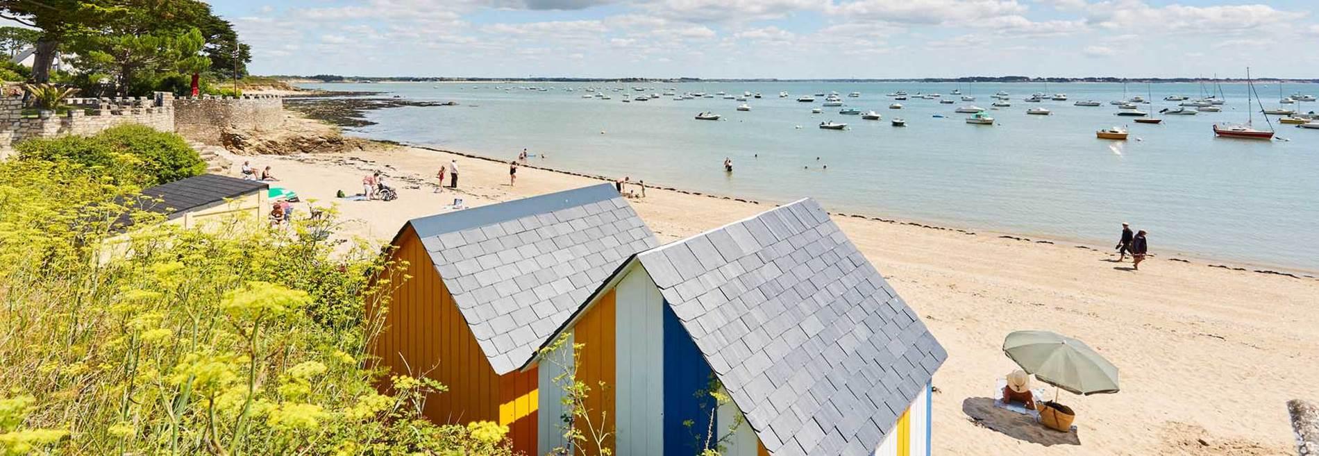 Petite plage de Kervoyal Damgan Morbihan © © A. Lamoureux