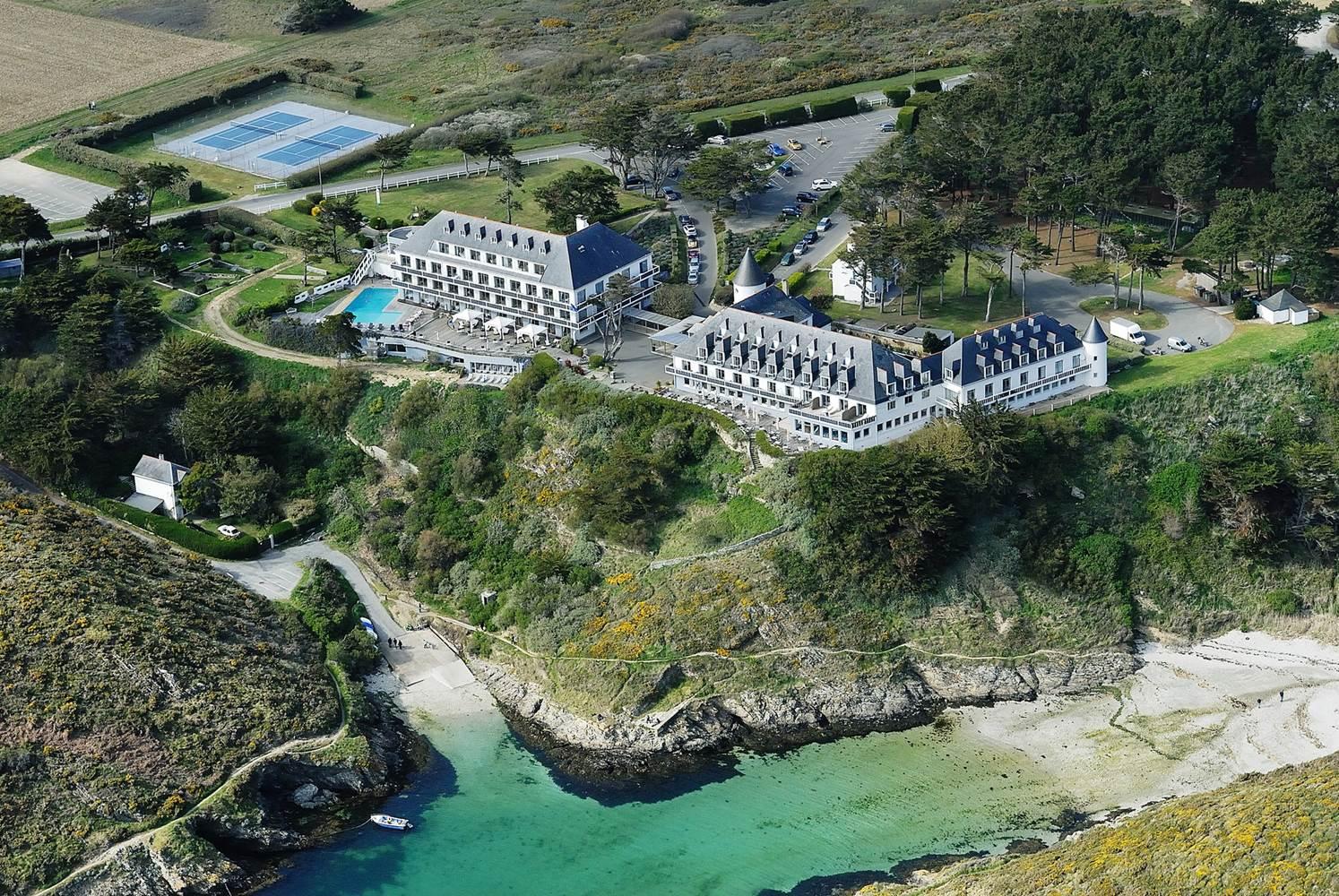 Hotel Castel clara - Vue aérienne - Belle ile morbihan bretagne sud ©