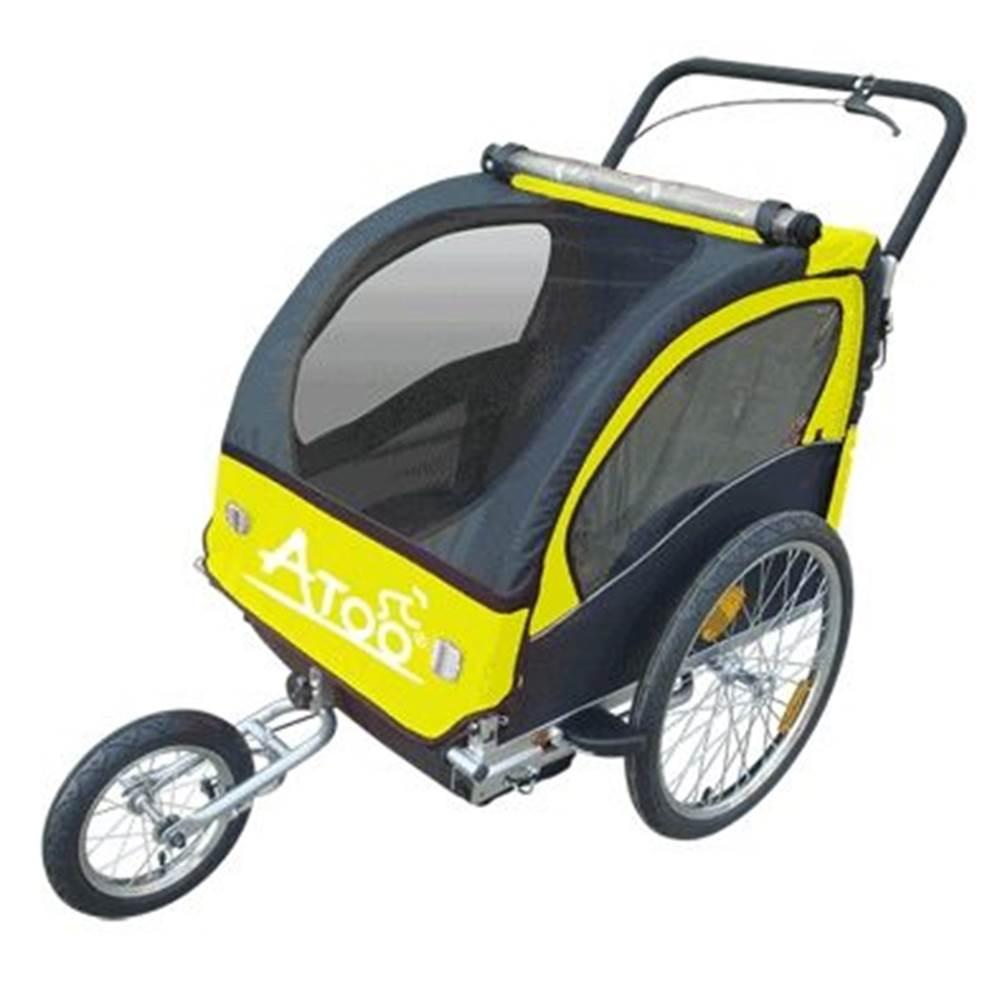 Remorque enfants ATOO avec frein, poids maximal en charge 37 kg -poids à vide 17,8 kg ©