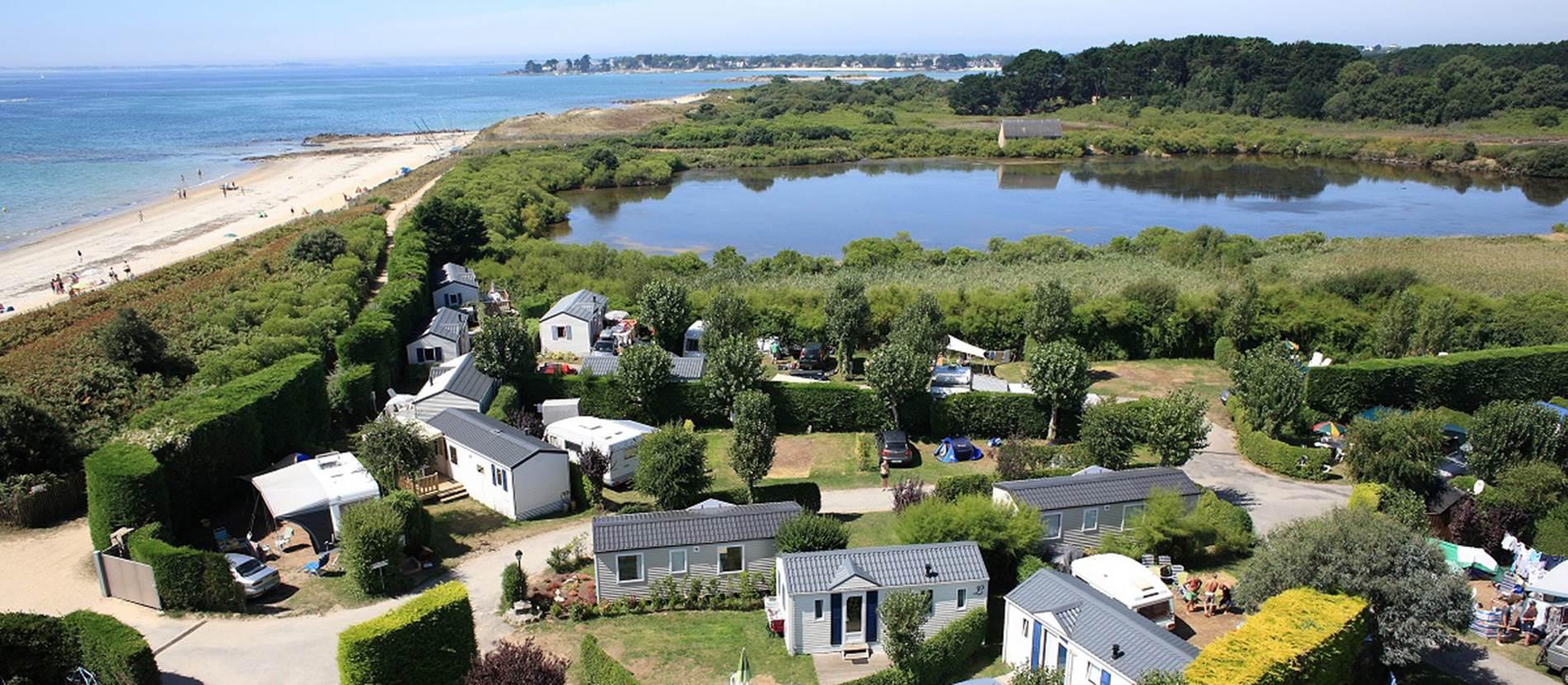 Camping-de-la-Plage-plage-La-Trinite-sur-Mer-Morbihan-Bretagne-Sud © Camping-de-la-Plage-plage-La-Trinite-sur-Mer