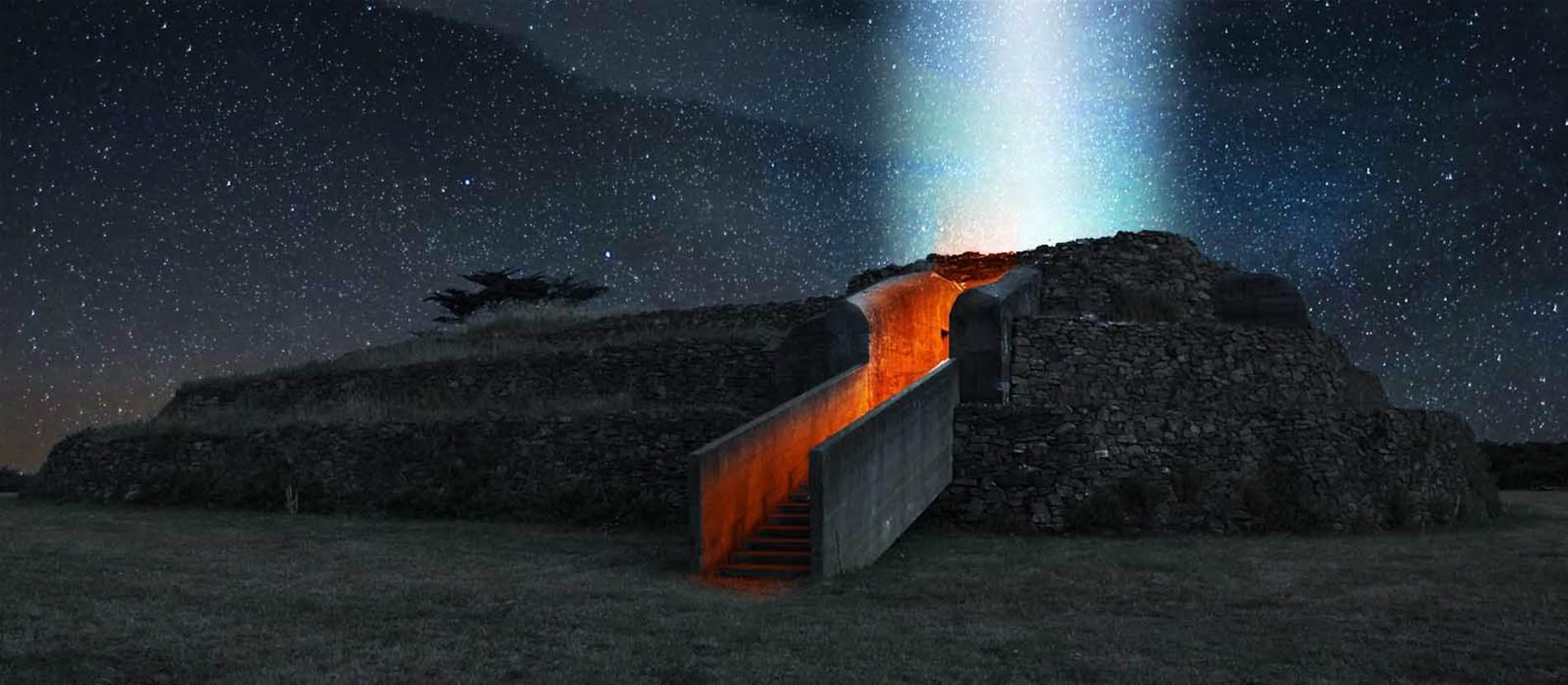 Skedanoz, les nuits scintillantes du cairn de Petit Mont ©