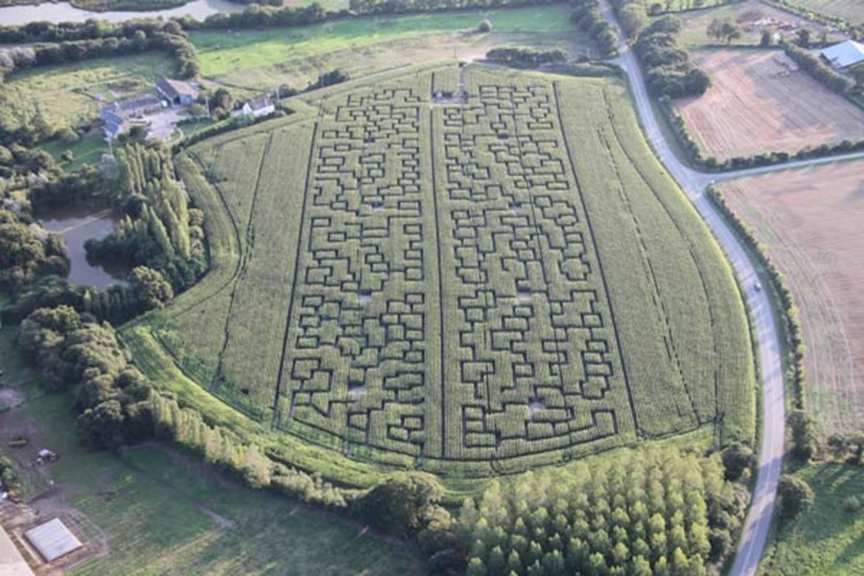 Labyrinthe-Géant-de-Maïs-Sarzeau-Presqu'île-de-Rhuys-Golfe-du-Morbihan-Bretagne sud © Labyrinthe Géant de Maïs