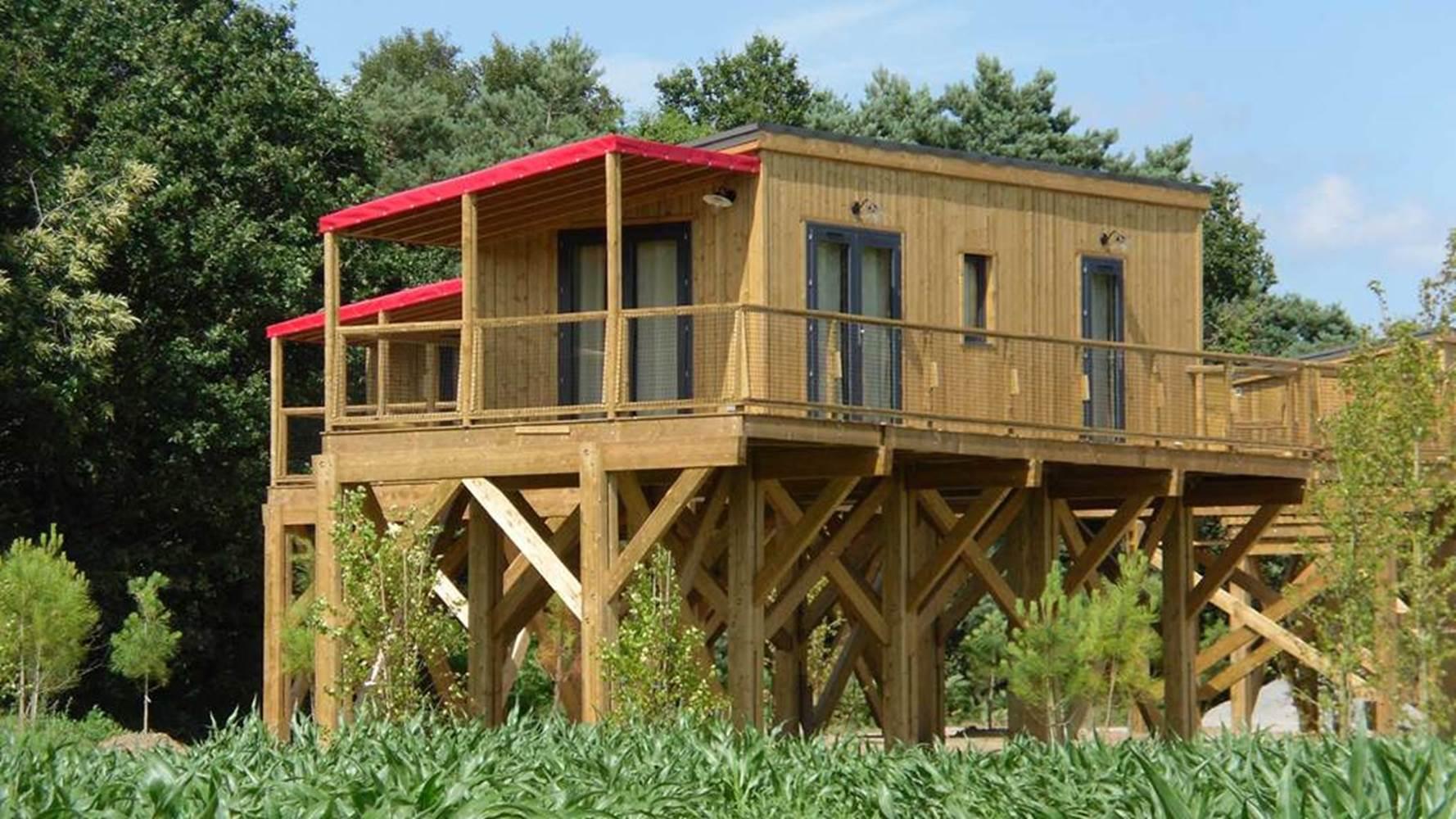 cottage sur pilotis - Domaine de Kervallon, caro, morbihan © domaine de kervallon