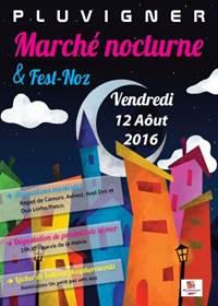 Marché Nocturne - Fest-noz à Pluvigner - vendredi 14 Août