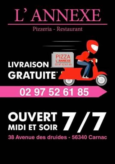 pizzeria-l'annexe-carnac-morbihan-bretagne-sud © L'Annexe
