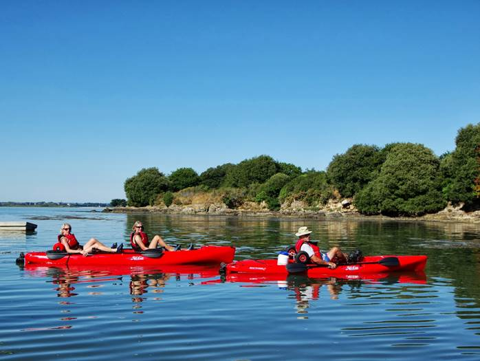 Feet-Kayak-Enterrement-Vie-Garçon-Sarzeau-Golfe-du-Morbihan-Bretagne sud © Feet Kayak