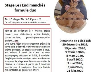 Stage Les Endimanchés ©