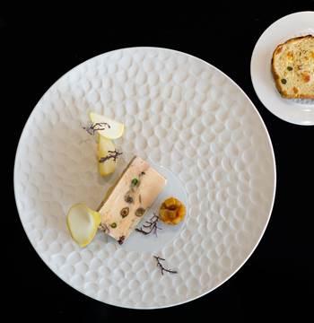 Nougat de foie gras Restaurant L'Eskell Le Diana Hotel et Spa Nuxe Carnac Morbihan Bretagne-Sud