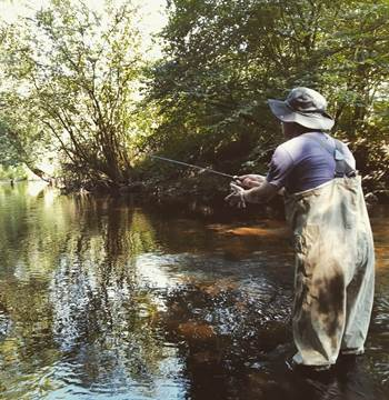Pêche de la truite Scorff romain sturque rom's rods guide de pêche