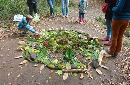 Créer avec la nature, sortie nature et land art