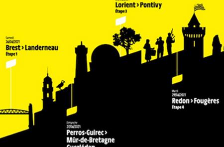 Passage du Tour de France sur le Pont Lorois à Belz