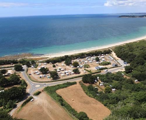 Vue-aérienne-camping-municipal-du-kerver-saint-gildas-de-rhuys-morbihan-bretagne sud © Camping Municipal du Kerver