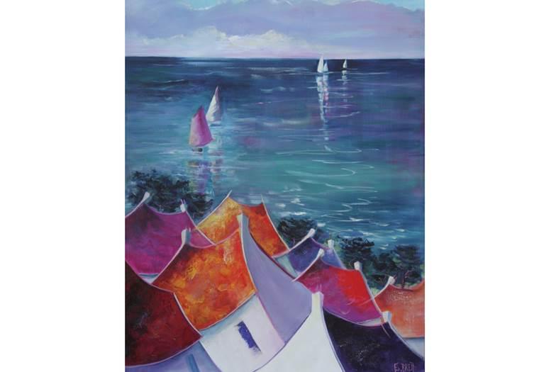 Atelier-Galerie-Emmanuelle-Brett-Saint-Gildas-de-Rhuys-Golfe-du-Morbihan-Bretagne sud © Emmanuelle Brett