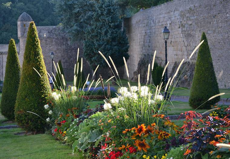 Remparts jardins soleil couchant © Catherine Gueguen