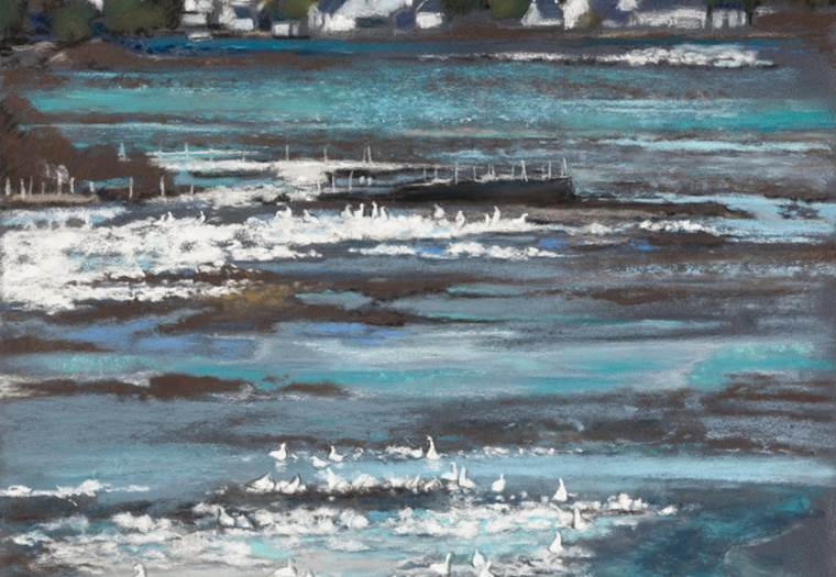 Christiane-Rosset-peinture-sarzeau-morbihan-bretagne sud © Christiane Rosset